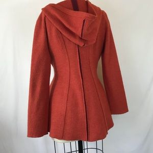 Anthropologie Jackets Coats Rosie Neira Boiled Wool Sweater Coat